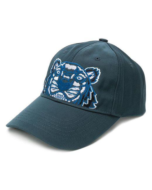 KENZO - Gray Tiger Canvas Cap for Men - Lyst