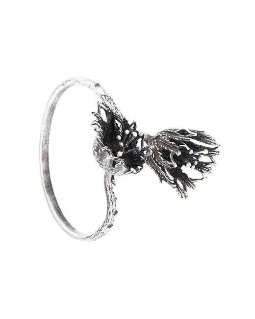 Midgard Paris - Metallic Floral Thistle Bracelet - Lyst
