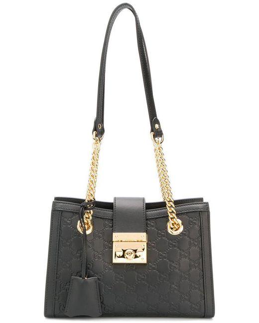 d7d22a3fb8c Gucci - Black Small Shoulder Bag - Lyst ...