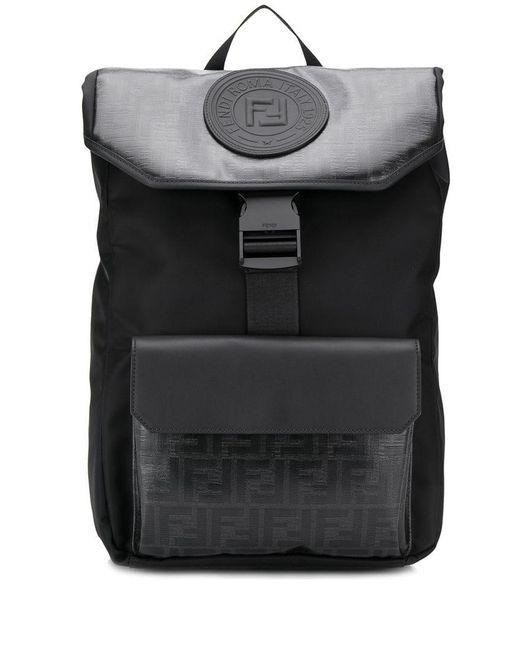 7060f24c9606 Fendi - Black Monogram Backpack for Men - Lyst ...