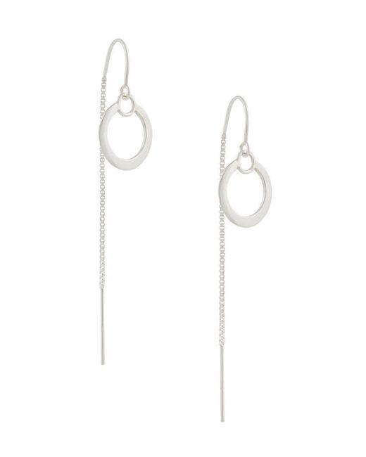 Petite Grand - Metallic Double Circle Thread Through Earrings - Lyst