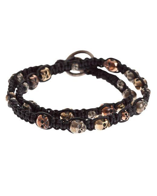 Tobias Wistisen | Black Woven Skull Bracelet for Men | Lyst