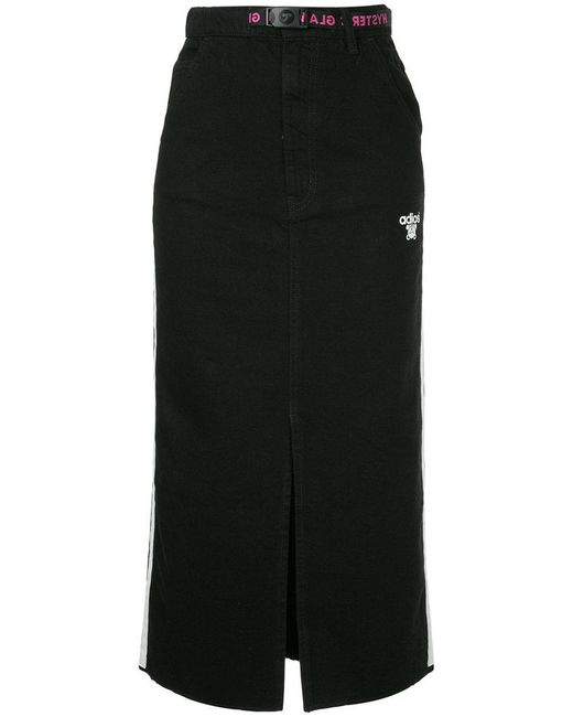 Hysteric Glamour - Black Adios Front Slit Denim Skirt - Lyst