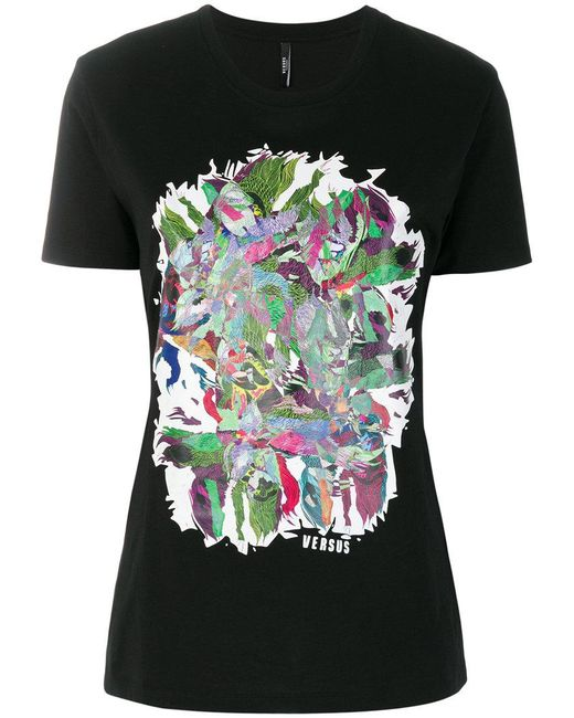 Versus abstract print T-shirt Discount Shop For Great Deals Online Wholesale Price Cheap Online Clearance New Arrival NVJktEg