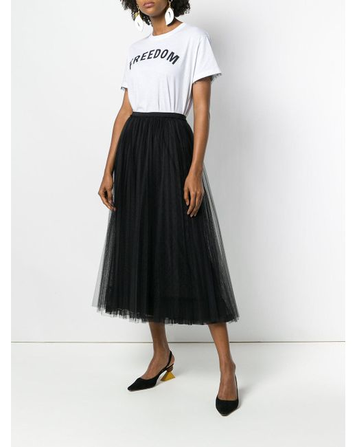 c24f7d86cef ... RED Valentino - Black Full Layered Tulle Skirt - Lyst ...