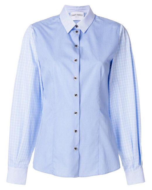 Daizy Shely - Blue Classic Shirt - Lyst