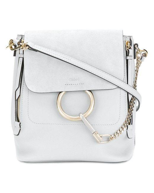 Chloé - Gray Faye Shoulder Bag - Lyst