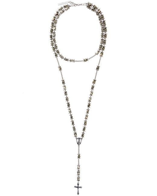 Givenchy | Metallic Rosary Bead Stone Necklace | Lyst