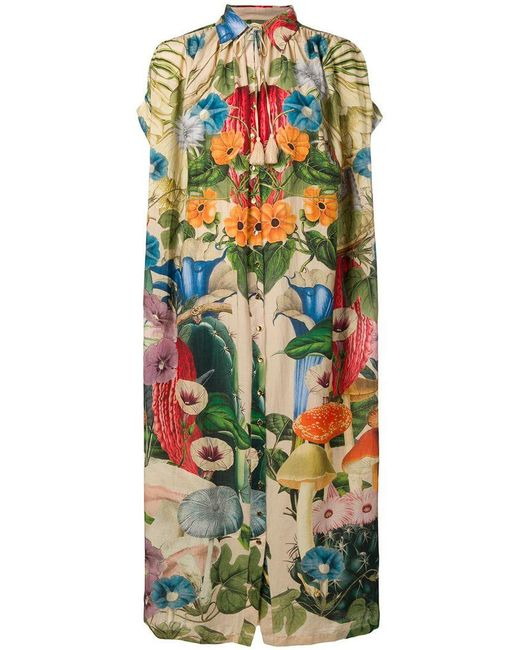 Carolina K - Green Scared Plants Tent Shirt Dress - Lyst