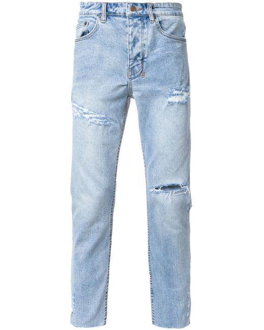 Ksubi   Blue Distressed Tapered Jeans for Men   Lyst