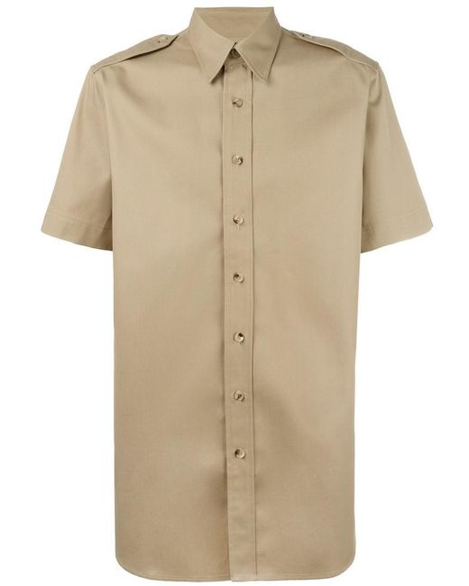 Palm Angels - Natural College Safari Shirt for Men - Lyst