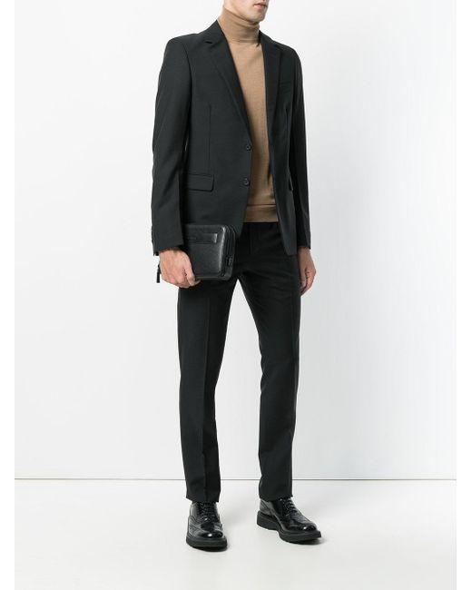 2344bbeaa559 ... Prada - Black - Hand-strap Clutch - Men - Calf Leather - One Size ...