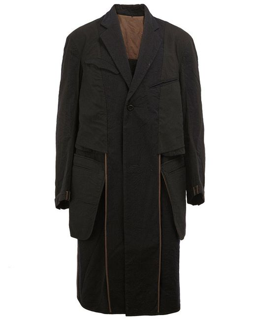 Ziggy Chen | Black Multi Pocket Coat for Men | Lyst