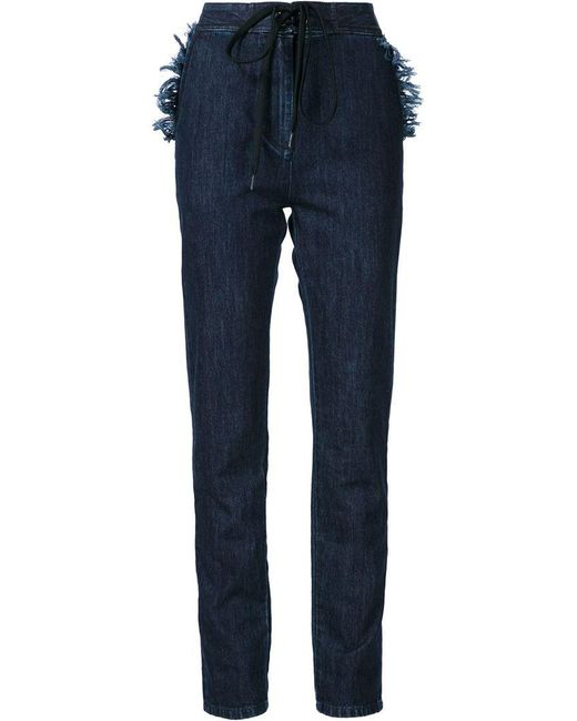 Tomas Maier - Blue Denim Straight Leg Trousers - Lyst
