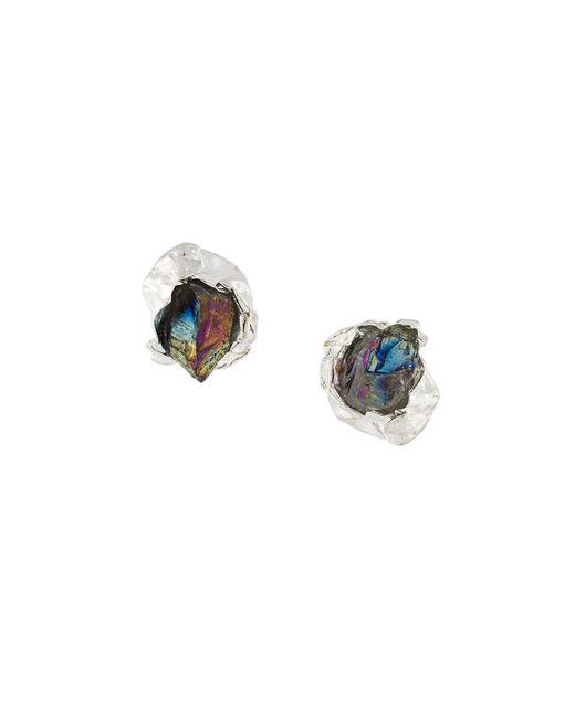 Niza Huang | Metallic Crush Stone Stud Earrings | Lyst
