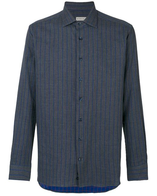 Etro | Blue Pinstripe Shirt for Men | Lyst
