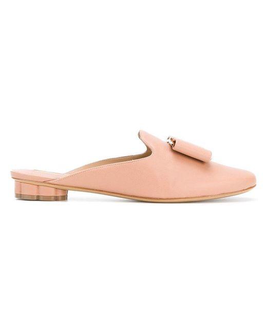 Ferragamo - Pink Flower Heel Mules - Lyst