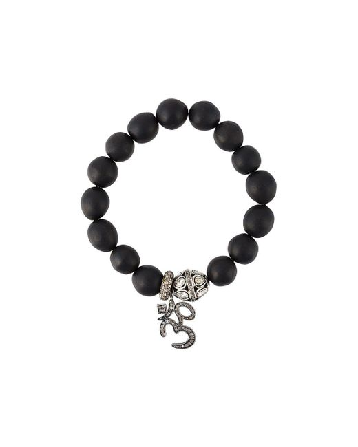 Gemco - Black Diamond Charm Bead Bracelet - Lyst