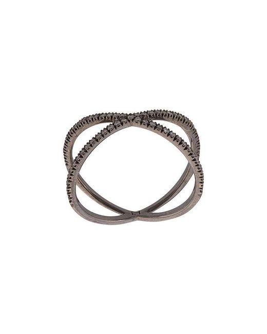 Eva Fehren - Metallic Diamond Double-ring - Lyst