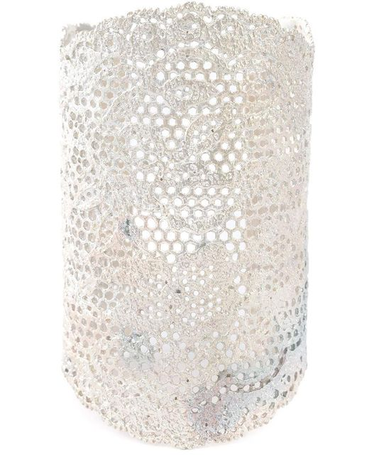 Aurelie Bidermann | Metallic Large 'vintage Lace' Cuff | Lyst