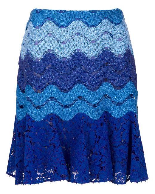 Martha Medeiros - Blue Lace Skirt - Lyst