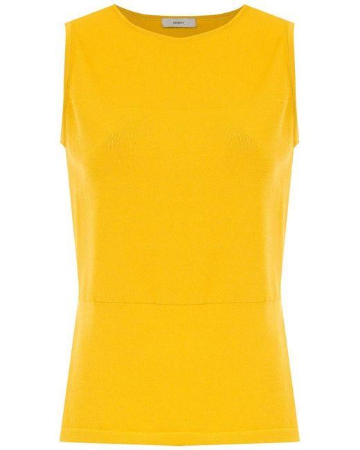 Egrey - Yellow Side Slits Blouse - Lyst