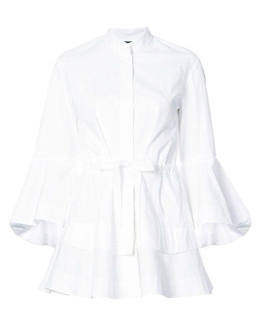 Josie Natori - White Lantern Sleeve Shirt - Lyst