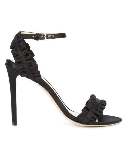 MONIQUE LHUILLIER Ruffle detail stiletto sandals wy9upGk