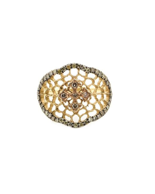Loree Rodkin | Metallic 'princess' Lacey Cross Diamond Ring | Lyst