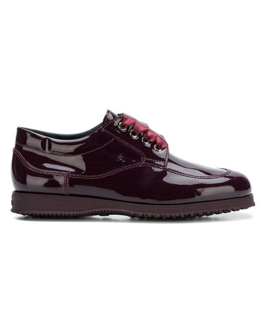 Hogan - Red Satin Laces Oxford Shoes - Lyst