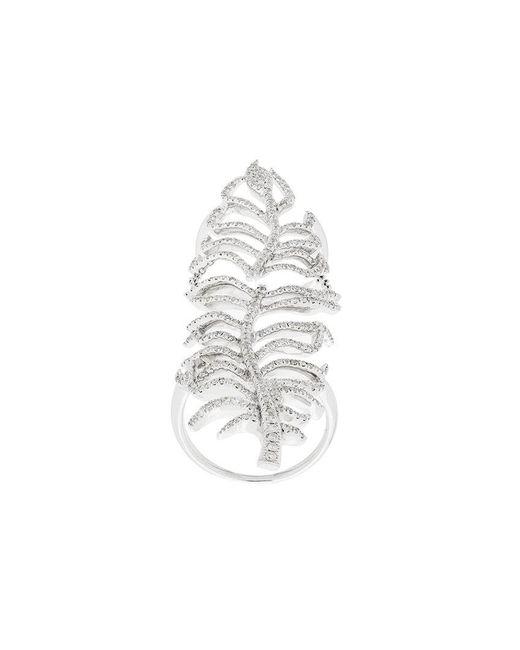 Elise Dray - Metallic Leaf Cuff Ring - Lyst