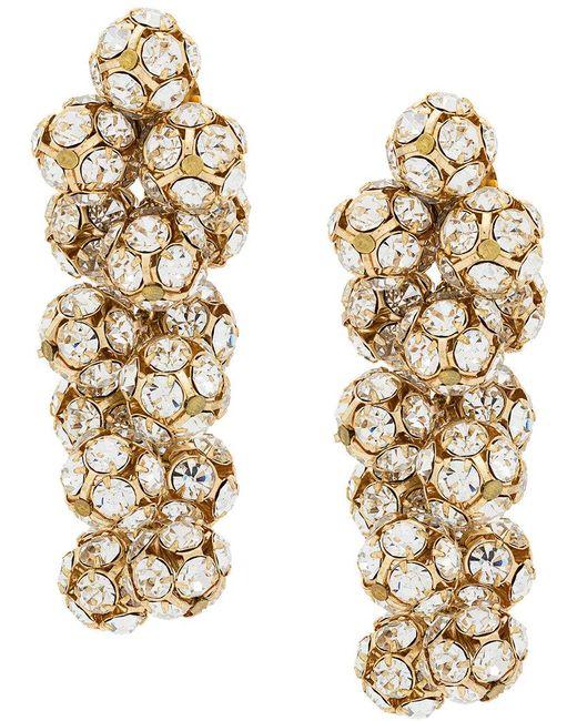 Ca&Lou   Metallic Eva Crystal Earrings   Lyst