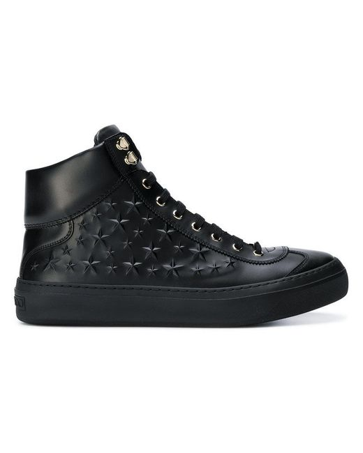 Jimmy Choo - Black Argyle Hi-top Sneakers for Men - Lyst