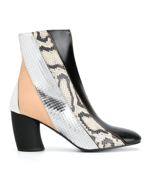 Proenza Schouler | Black Striped Patterned Ankle Boots | Lyst