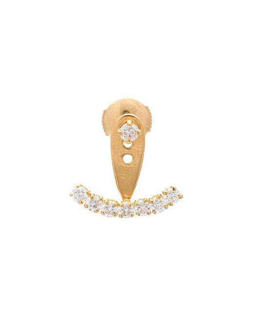 Yvonne Léon - Metallic Diamond Stud Earring - Lyst