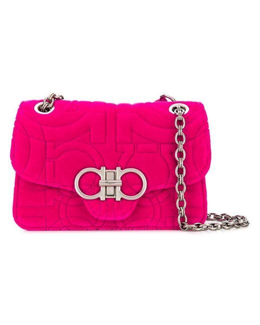 Ferragamo - Pink Double Gancio Foldover Flap Bag - Lyst