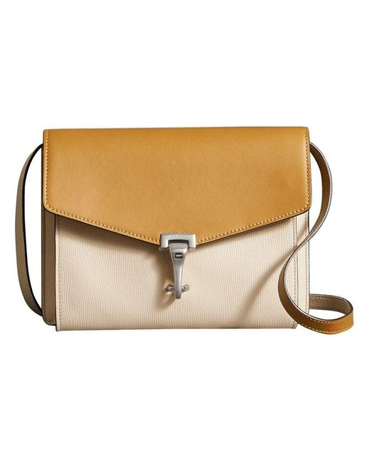 Burberry - Yellow Two-tone Leather Crossbody Bag - Lyst ... 7b534641315a3