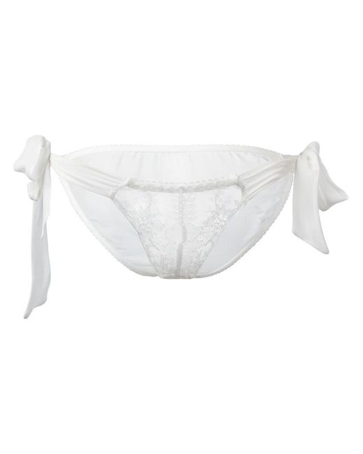 Gilda & Pearl - White Ava Tie-side Knickers - Lyst