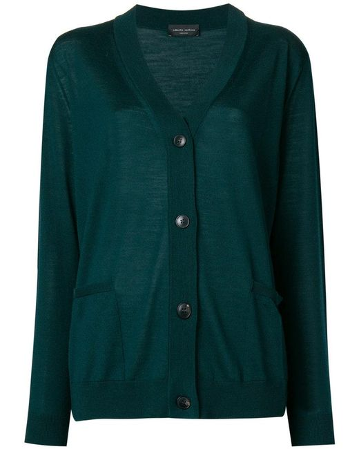 Roberto Collina - Green Patch Pocket Cardigan - Lyst