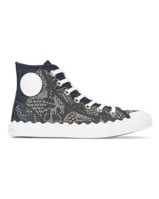 Chloé | Blue Hi-top Sneakers | Lyst