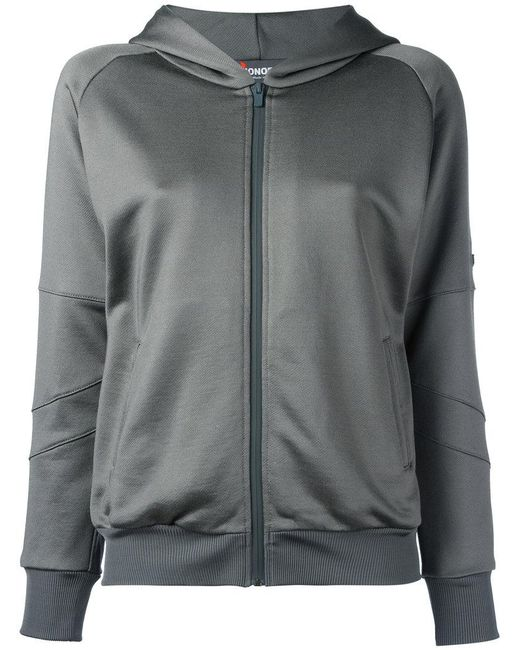 Jo No Fui - Gray Sequined Detail Zipped Hoodie - Lyst