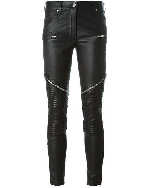 Givenchy - Black Zipped Biker Trousers - Lyst
