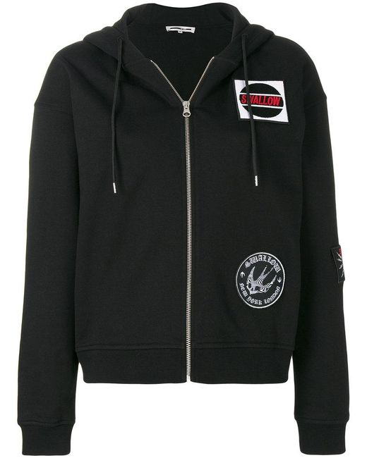 McQ Alexander McQueen - Black Swallow Patch Hoodie - Lyst