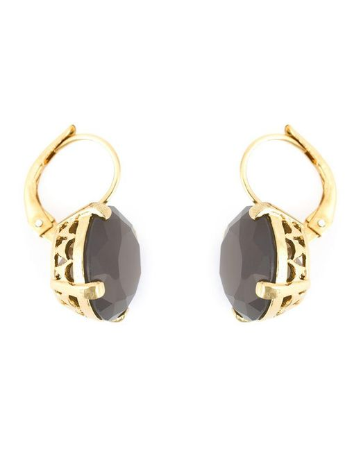 Wouters & Hendrix | Metallic Grey Agate Earrings | Lyst