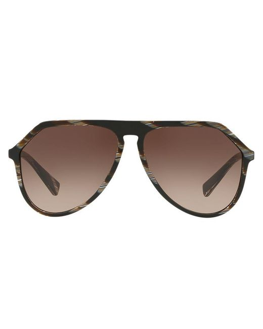 431a2f813f138 Dolce   Gabbana - Brown Oversized Aviators for Men - Lyst ...