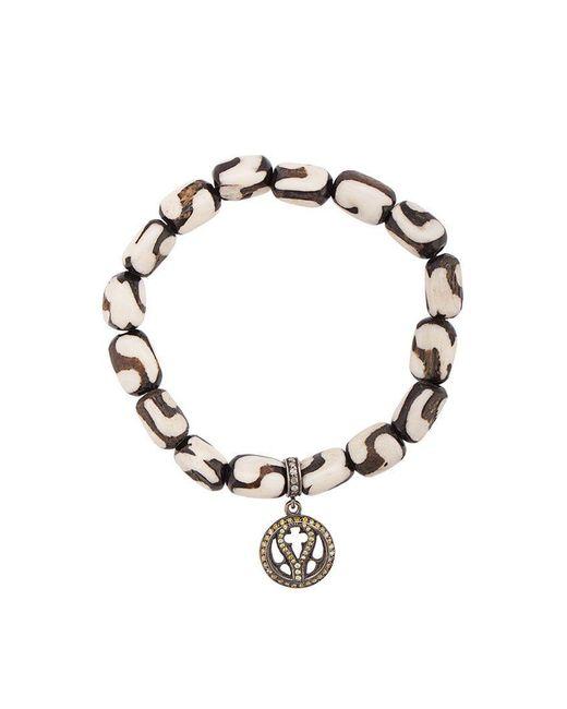 Loree Rodkin - White Bone Beaded Charm Bracelet - Lyst