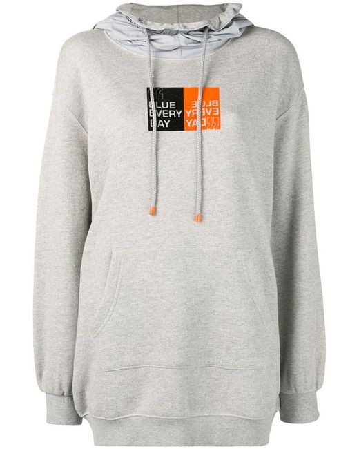 SJYP - Gray Blue Every Day Hoodie - Lyst