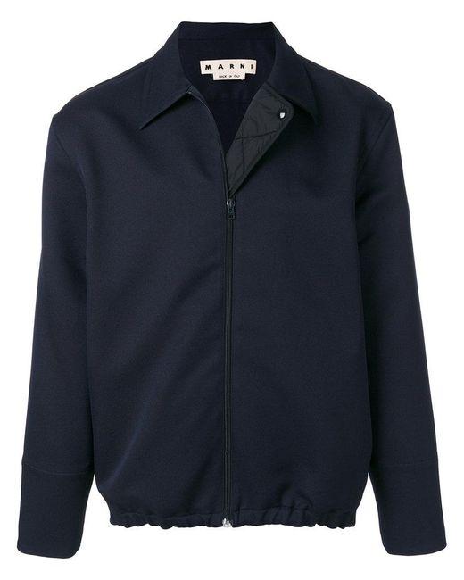 Marni - Blue Drawstring Hem Shirt Jacket for Men - Lyst
