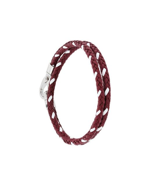 Tod's | Red Classic Woven Bracelet for Men | Lyst