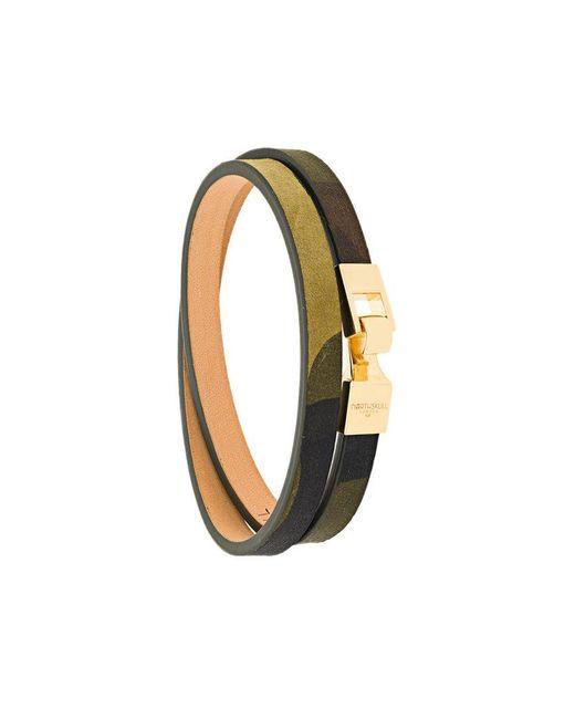 Northskull - Green Double Wrap Bracelet for Men - Lyst